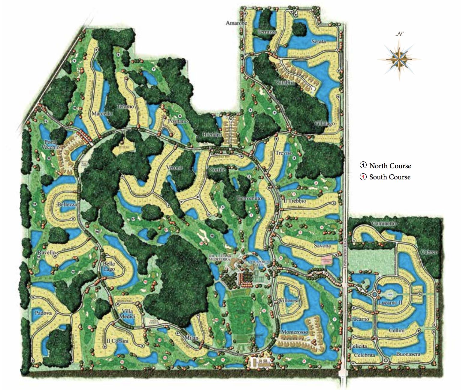 Mediterra aerial map