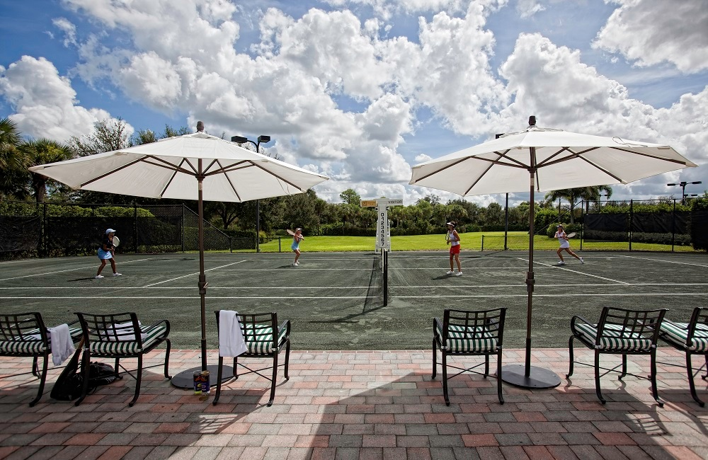 Beautiful onsite tennis courts